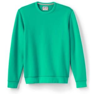 Lands' End Men's Serious Sweats Crewneck Sweatshirt for $8