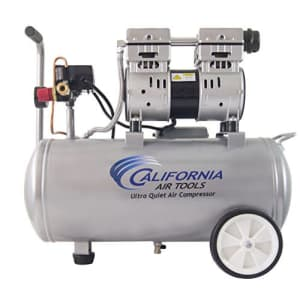 California Air Tools 8010 Ultra Quiet & Oil-Free 1.0 hp Steel Tank Air Compressor, 8 gal, Silver for $210