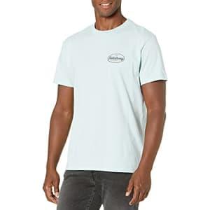Billabong Men's Short Sleeve Premium Logo Graphic T-Shirt, Vista Coastal Blue, X-Large for $26