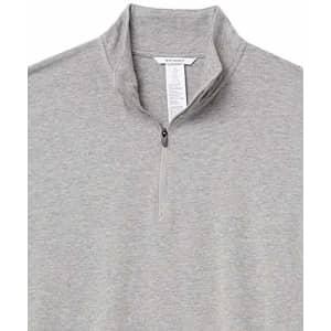 Amazon Brand - Peak Velocity Men's Pima Cotton Lightweight Quarter Zip Shirt, Medium Grey Heather, for $31