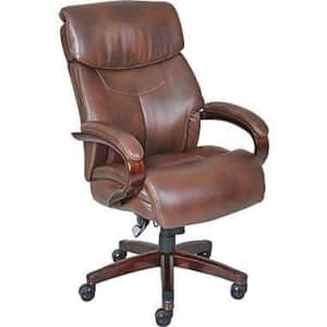La-Z-Boy Executive Chair, Leather Mahogany for $265