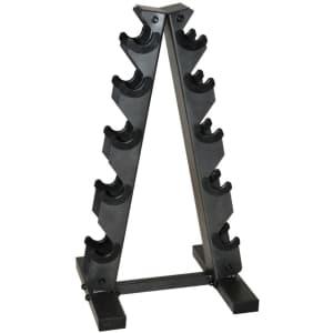 Cap Barbell A-Frame Dumbbell Rack for $29