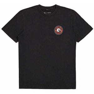 Brixton Men's Rival II Standard FIT Short Sleeve T-Shirt, Black/Red, S for $28