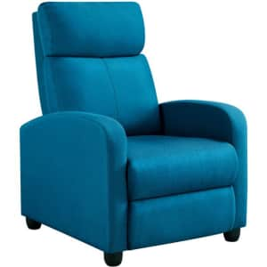 Easyfashion Push Back Theater Recliner for $139