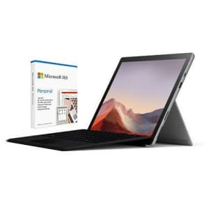 """Microsoft Surface Pro 7 10th-Gen. i5 12.3"""" 128GB Windows Tablet w/ Type Cover + 1yr Microsoft 365 for $729 in cart"""