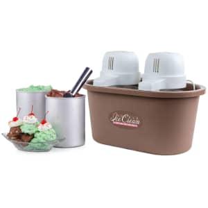 Nostalgia 4-Quart Electric Double Flavor Ice Cream Maker for $45