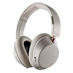 Plantronics BackBeat GO 810 Wireless Headphones, Active Noise Canceling Over Ear Headphones, Bone for $65