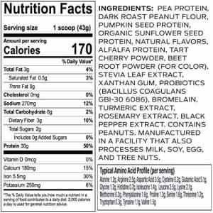 Vega Sport Premium Protein, Peanut Butter (19 Servings, 28.7 oz) - Plant Based Vegan Protein for $32