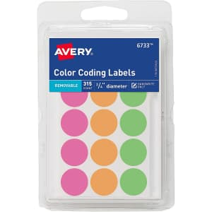 Avery Round Color Coding Labels 315-Pack for $1