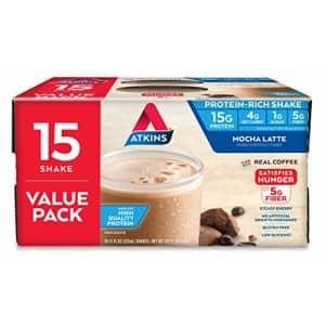 Atkins Gluten Free Protein-Rich Shake, Mocha Latte, Keto Friendly, 15 Count for $31