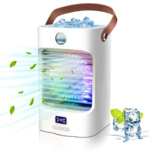 Rechargeable Mini Portable Air Conditioner for $15