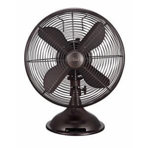 "HUNTER Retro Table Fan, 12"", Onyx Copper for $76"