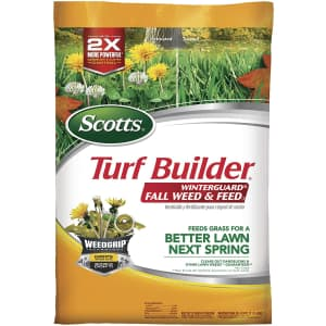 Scotts Turf Builder WinterGuard Fall Weed and Feed 44-lbs. Bag for $40