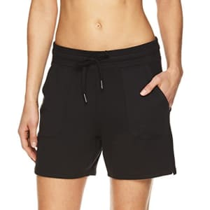 Gaiam Women's Warrior Yoga Short - Bike & Running Activewear Shorts w/Pockets - Black (Tap Shoe) for $26