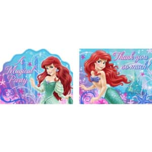 Hallmark Little Mermaid Party Supplies - Little Mermaid Invitations and Thank You Notes - 16 Count for $6