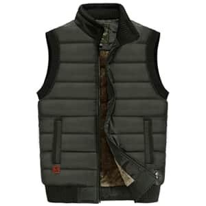 VtuAOL Men's Fleece Lined Padded Vest for $26