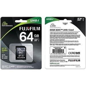 Fujifilm Elite Performance - Flash Memory Card - 64 GB - SDXC UHS-I, Black (600013605) for $47