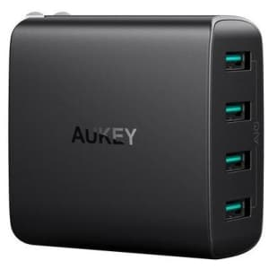 Aukey 40W 4-Port Wall Charger for $8