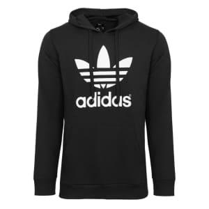 adidas Men's Trefoil Fleece Hoodie for $16