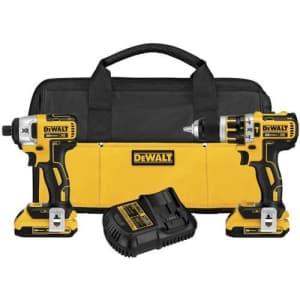 DEWALT 20V MAX XR Cordless Hammer Drill Combo Kit, Compact, 2-Tool (DCK286D2) for $507