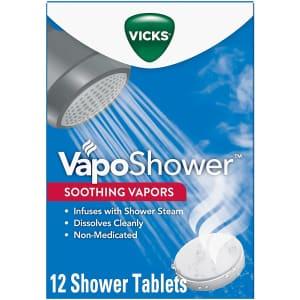 Vicks VapoShower Shower Bomb Tablets 12-Pack for $15