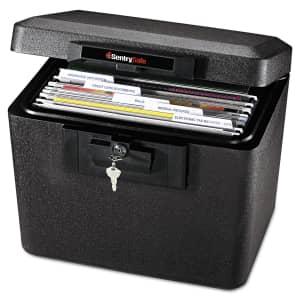 Sentry Safe Fireproof File Box for $43