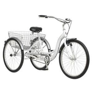 Schwinn Meridian Adult Trike, Three Wheel Cruiser Bike, 1-Speed, 26-Inch Wheels, Cargo Basket, White for $565