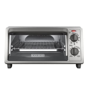 Black + Decker BLACK+DECKER 4-Slice Countertop Toaster Oven, Stainless steel Silver TO1322SBD for $41