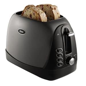 Oster 2-Slice Toaster, Metallic Grey (TSSTTRJBG1) (Renewed) for $27