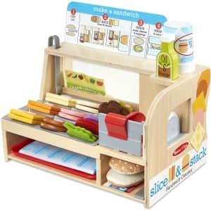 Melissa & Doug Wooden Slice & Stack Sandwich Counter w/ Deli Slicer for $37