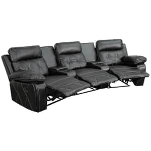 Flash Furniture Reel Comfort Series 3-Seat Curved Reclining Theater Seating Unit for $936