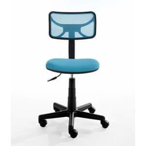 Urban Shop Swivel Mesh Task Chair, Blue for $37