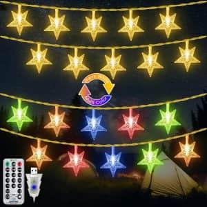 Ollny 49-Ft. Star String Lights for $23