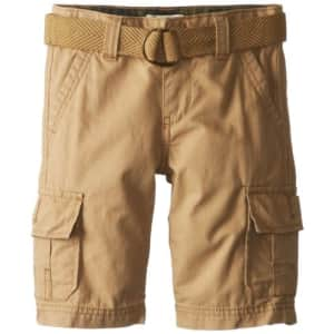 Levi's Boys' Cargo Shorts, Harvest Gold, 7XL for $13