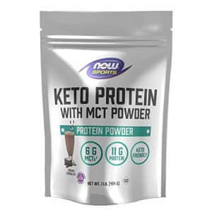 Now Foods Now Sports, Keto Protein with Mct Powder, with 6g of Mct and 11g of Protein, Chocolate, 1 Pound for $31