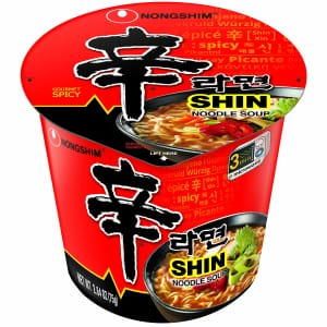 Nongshim Shin Cup Gourmet Spicy Noodle Soup 6-Pack for $5.59 via Sub & Save