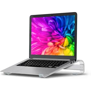 Soqool Aluminum Laptop Riser for $10