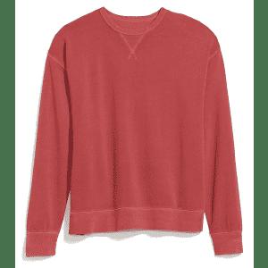 Old Navy Unisex Vintage Garment-Dyed Sweatshirt for $14