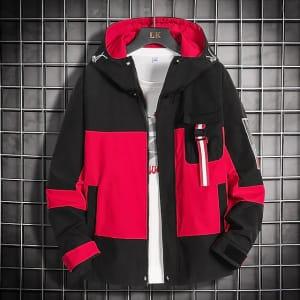 Men's Hooded Windbreaker Jacket for $20