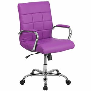 Flash Furniture Mid-Back Purple Vinyl Executive Swivel Office Chair with Chrome Base and Arms for $155