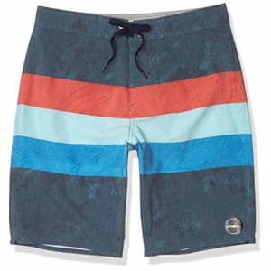 O'NEILL Men's 20 Inch Outseam Ultrasuede Swim Boardshort, Midnight/Freedom, 31 for $50