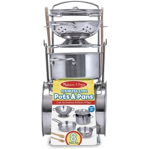 Melissa & Doug Stainless Steel Pots and Pans for $20