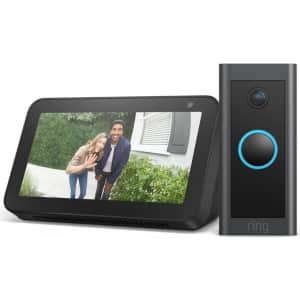 Ring 1080p WiFi Wired Video Doorbell (2021) for $65