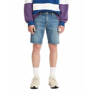 Levi's Men's 412 Slim Jean Shorts, Make Nice Adv - Medium Indigo, 31 for $30