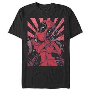 Marvel Men's T-Shirt, Black, XXXXX-Large for $24