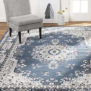 """Home Dynamix Premium Asiana Traditional Area Rug, Oriental Midnight Blue 21""""x35"""" for $13"""