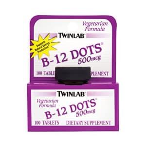Twinlab, B-12 Dots, 500mcg, 100 Tablets for $10