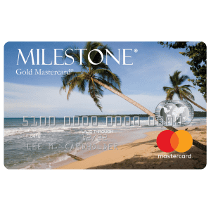 Milestone® Mastercard®: Unsecured for less than perfect credit