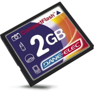 Dane Elec Dane-Elec 2GB CompactFlash Memory Card for $26