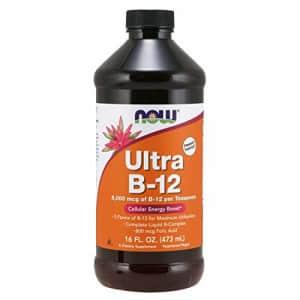 Now Foods NOW Supplements, Ultra B-12, Liquid, 800 mcg Folic Acid, Cellular Energy Production*, 16-Ounce for $40